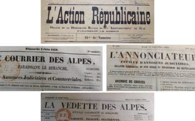 Conférence le 8 octobre : La presse dans les Hautes-Alpes au 19e siècle